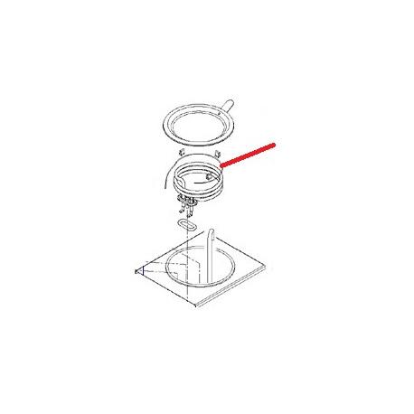 RESISTANCE CHAUFFE M100/200W ORIGINE ANIMO - NAVQ8762