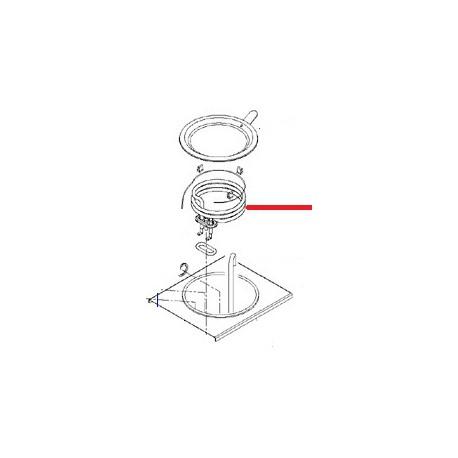 RESISTANCE CHAUFFE EAU M202W ORIGINE ANIMO - NAVQ8763