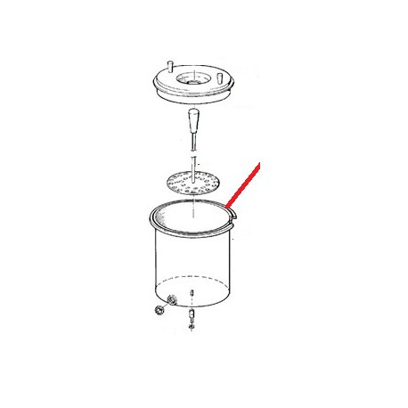 COUVERCLE ISOTHERME MW 10/20L ORIGINE ANIMO - NAVQ09283