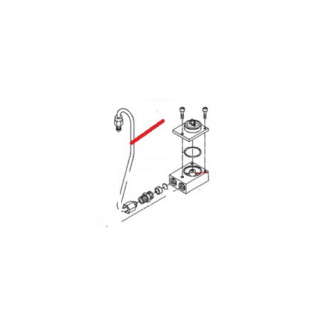 TUBE ELECTROVANNE-SOUPAPE SURP ORIGINE BEZZERA - ORQ318