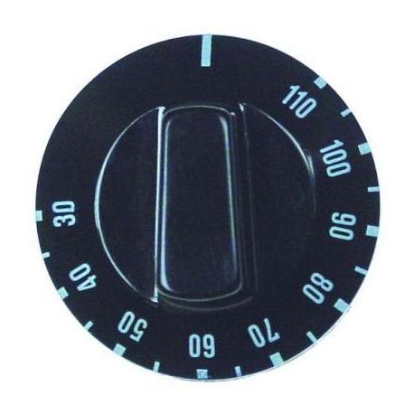 MANETTE 30Ø-110ØC D50MM NOIRE AXE:Ø6X4.6MM -A PLAT E - TIQ78582
