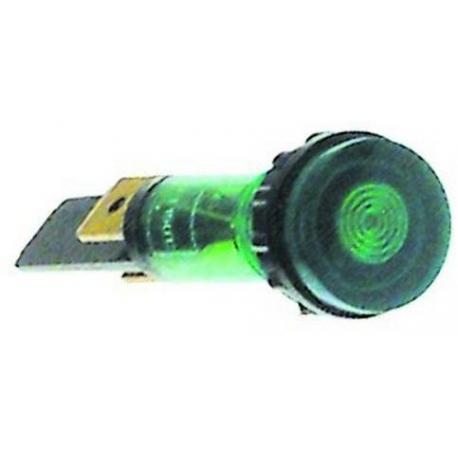 LAMPE TEMOIN VERT D10MM 230V - TIQ78648