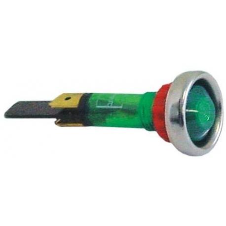 LAMPE TEMOIN VERT D10MM 230V - TIQ78640