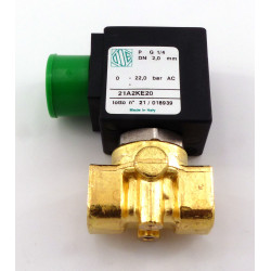 ADJUSTABLE 2-WAY SOLENOID VALVE 16W 230V AC 50HZ INLET 1/4F