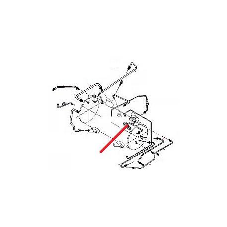 TUBE EAU CHAUDE 1/2/3G ORIGINE CONTI - PBQ951681
