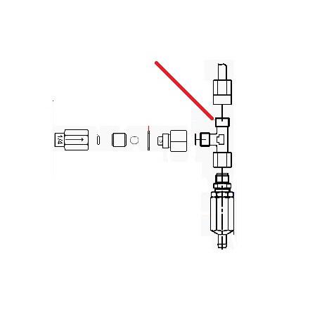 RACCORD EN T 1/4M 1/4M 1/4F ORIGINE CONTI - PBQ965591