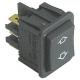 POUSSOIR 30X22MM AVEC CAPOT 250V 16A NOIR TMAXI 120°C ORIGIN - TIQ78056