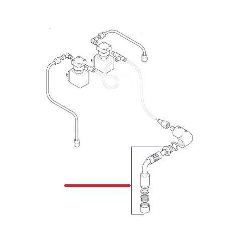 TUBE EAU E61 COMPLET ORIGINE CIMBALI - SQ6179