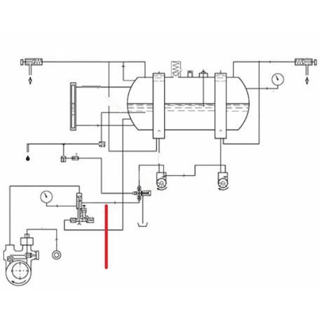 TUBE VANNE BLOC ORIGINE CIMBALI - SQ6185