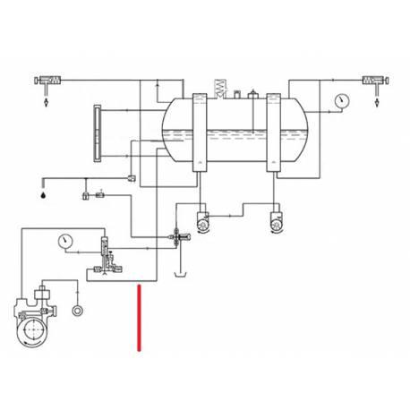 TUBE CLAPET CHAUDIERE ORIGINE CIMBALI - SQ6186