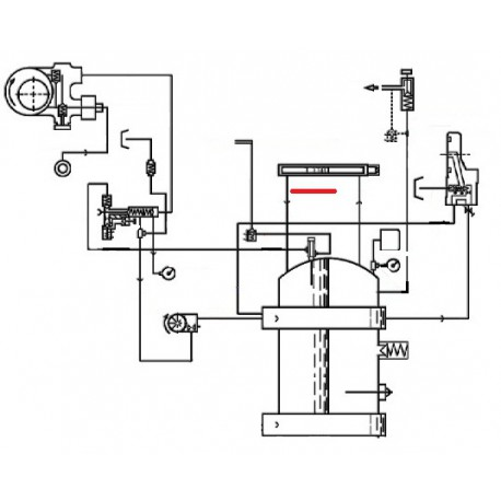 TUBE INFERIEUR NIVEAU ORIGINE CIMBALI - SQ6119