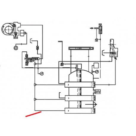 TUBE ECHANGEUR D ORIGINE CIMBALI - SQ6135