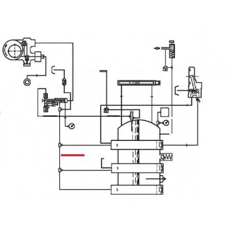 TUBE ECHANGEUR 2/3/4GR ORIGINE CIMBALI - SQ6136