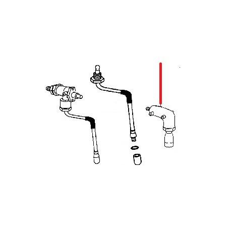 ROBINET COMPLET EAU CHAUDE E91 ORIGINE CIMBALI - SQ6145