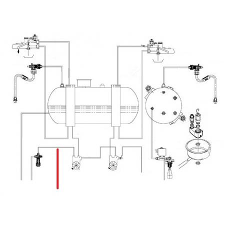 TUBE DEBIMETRE CLAPET ORIGINE CIMBALI - SQ6263