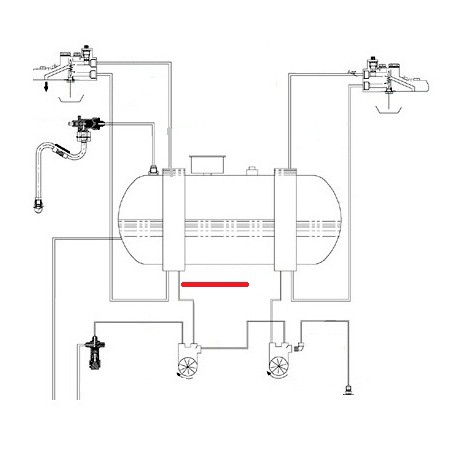 TUBE DEBIMETRE ECHANGEUR G ORIGINE CIMBALI - SQ6264