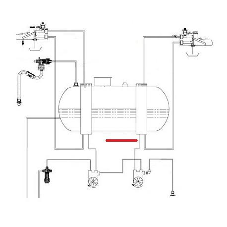 TUBE DEBIMETRE ECHANGEUR D ORIGINE CIMBALI - SQ6275