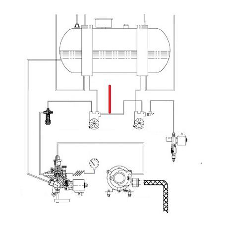 TUBE DEBIMETRE ORIGINE CIMBALI - SQ6276