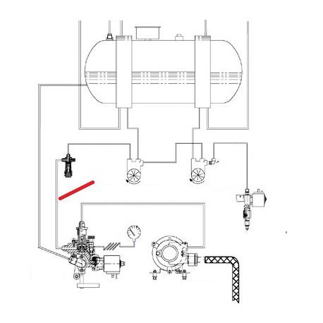 TUBE CLAPET GROUPE ORIGINE CIMBALI - SQ6277