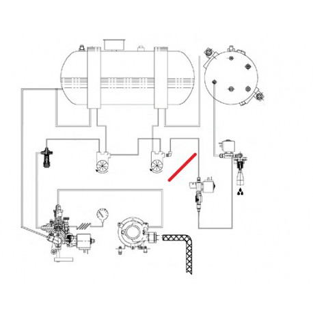 TUBE DEBIMETRE ECHANGEUR ORIGINE CIMBALI - SQ6278