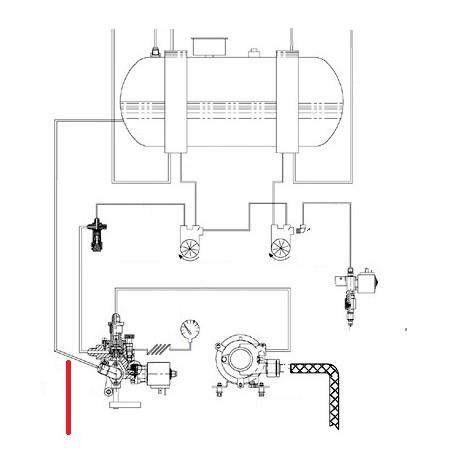 TUBE CLAPET CHAUDIERE ORIGINE CIMBALI - SQ6279