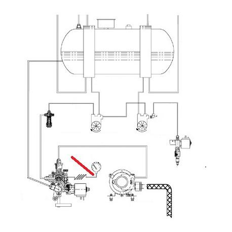 TUBE POMPE MANOMETRE ORIGINE CIMBALI - SQ6270