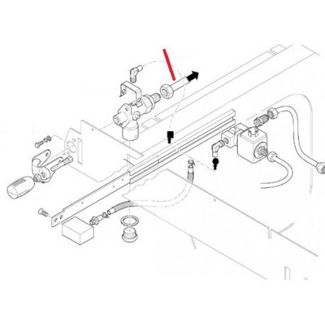 TUBE CHAUDIERE ROBINET GAUCHE ORIGINE CIMBALI - SQ6272