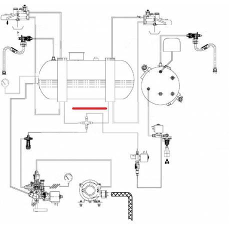 TUBE ECHANGEUR D A CROIX ORIGINE CIMBALI - SQ6287