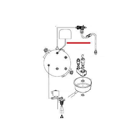 TUBE CHAUDIERE PRESSOSTAT ORIGINE CIMBALI - SQ6288