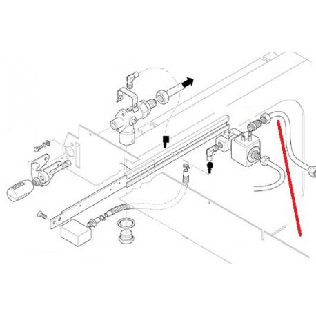 TUBE ELECTROVANNE CHAUDIERE ORIGINE CIMBALI - SQ6212