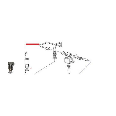 TUBE ELECTROVANNE CAPPUCCINO ORIGINE CIMBALI - SQ6387