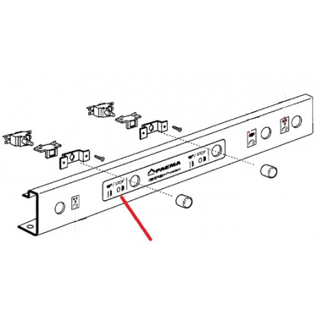 PLAQUE FAEMA E98 ORIGINE CIMBALI - SQ6321