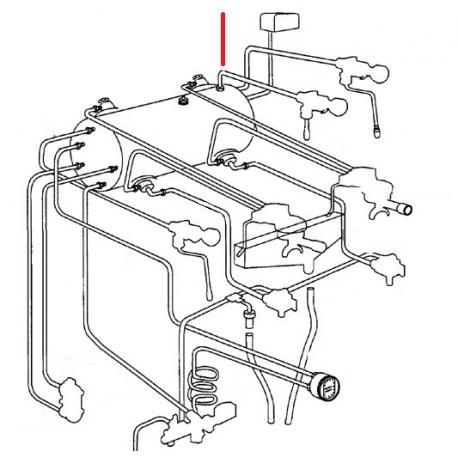TUBE ROBINET EAU GAUCHE ORIGINE CIMBALI - SQ6333