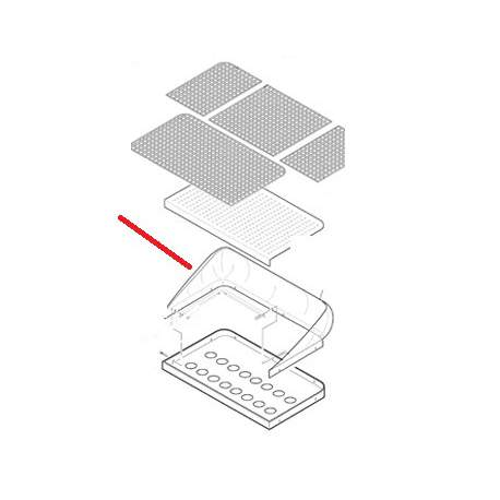 ENCADREMENT VERRE E61 3GR ORIGINE CIMBALI - SQ7562