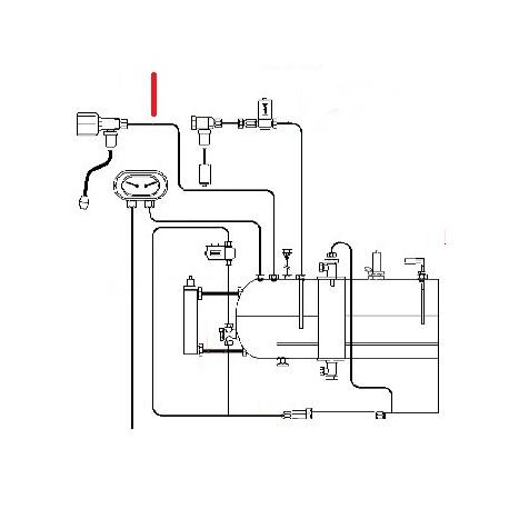 TUBE ROBINET VAPEUR GAUCHE ORIGINE FUTURMAT - SGQ6371