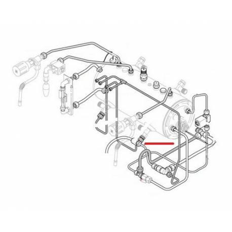 TUBE 6X4X500MM ORIGINE RANCILIO - EQ438