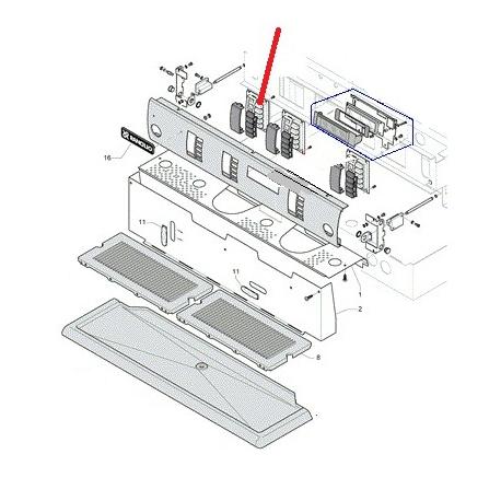 CLAVIER FONCTION TSC POUR C10 ORIGINE RANCILIO - EQ6559
