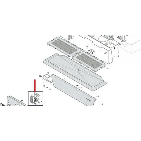 CLAVIER C10 FONCTION S ORIGINE RANCILIO - EQ6566
