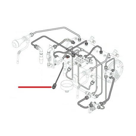 TUBE DECHARGE BOILER 8X6X280MM ORIGINE RANCILIO - EQ6591