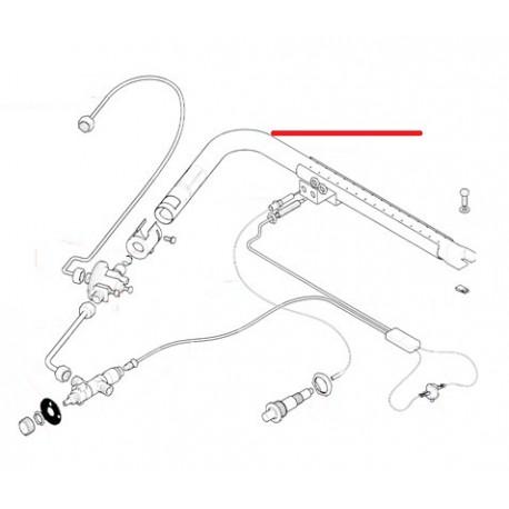 RAMPE BRULEUR GAZ SEULE 3/4GR ORIGINE RANCILIO - EQ6536