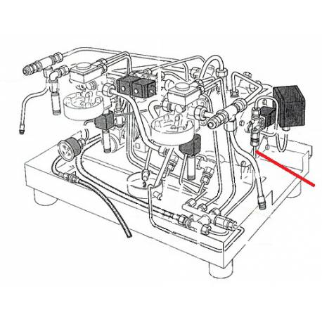 TUBE 6X4X400MM ORIGINE RANCILIO - EQ6664