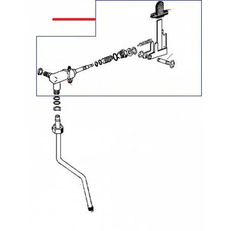ROBINET VAPEUR COMPLET BETSY ORIGINE RANCILIO - EZQ655