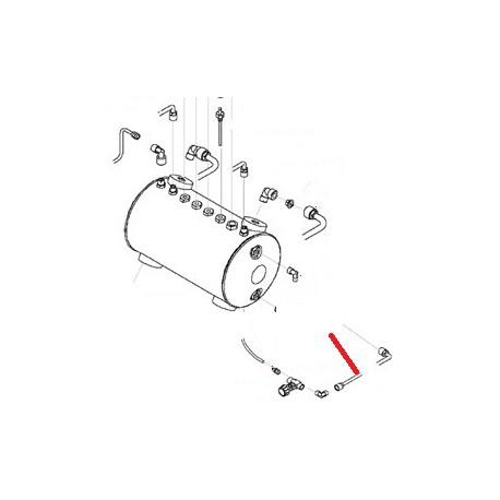 TUBE VIDANGE CHAUDIERE 1GR ORIGINE SAN REMO - FNAQ33