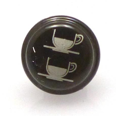 BOUTON CAFE COURT DROIT NOIR ORIGINE SAN REMO - FNAQ765