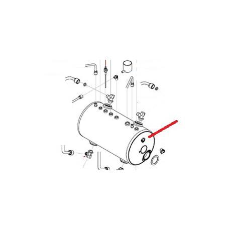 BOILER CUIVRE 3GR D 205MM ORIGINE SAN REMO - FNAQ059