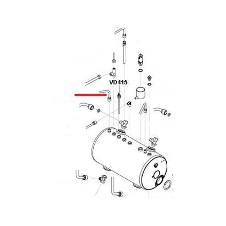 TUBE VAPEUR GAUCHE 3GR ORIGINE SAN REMO - FNAQ039