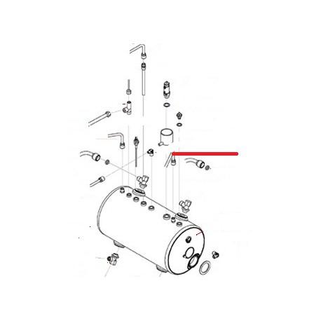 TUBE VAPEUR DROIT 2GR ORIGINE SAN REMO - FNAQ030