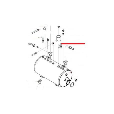 TUBE VAPEUR DROIT 3GR ORIGINE SAN REMO - FNAQ031