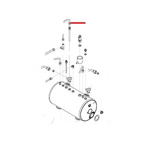 TUBE PRELEVEMENT EAU CHAUDE 3G ORIGINE SAN REMO - FNAQ033
