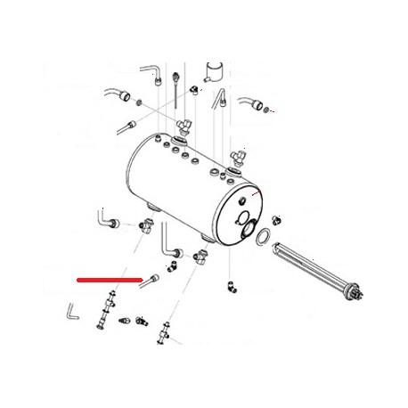 TUBE VIDANGE BOILER 2GR ORIGINE SAN REMO - FNAQ049